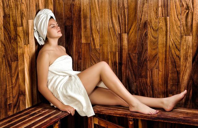 odpočívání v sauně