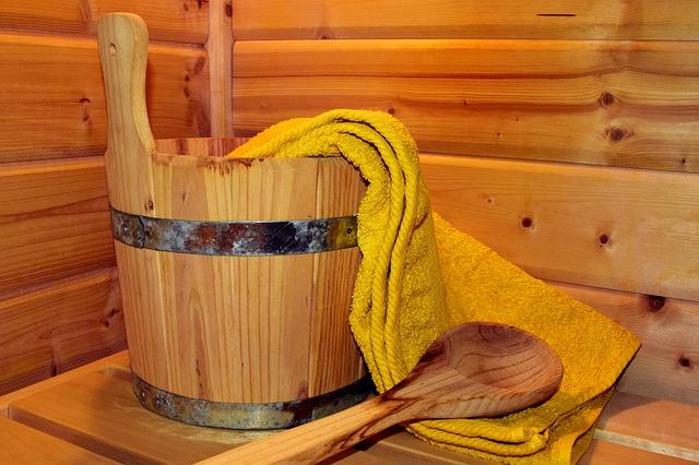 kýbl v sauně