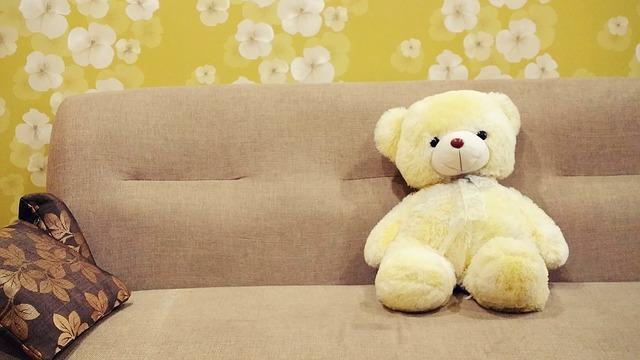 žlutý medvěd